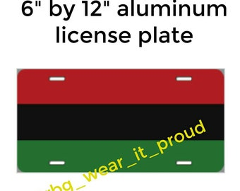 RBG red black and green Pan African flag license plate