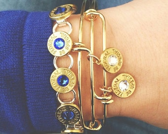 Bullet Bangle, ammo jewelry, gold hunting bangles, shotgun jewelry, bullet shell casings, cuffs, recycled ammo, brass, bracelet