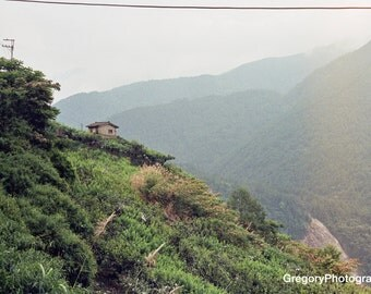Hut on a Mountain Side. Heping, Taiwan