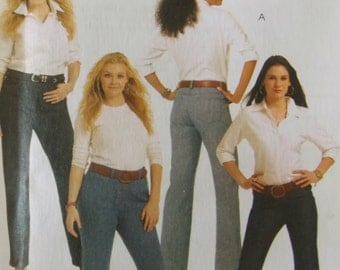 Sewing pattern McCall's 5894 Misses' and women's jeans new uncut size 8 to 16