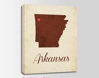 Arkansas Canvas Print, Arkansas Vintage Print, Arkansas Map, Personalized Art, Wall Decor, Vintage Map, Nursery Art, USA