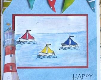 Handmade greetings card - Birthday