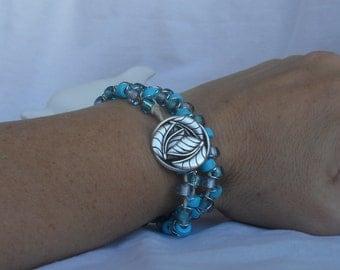 Double wrap bead bracelet