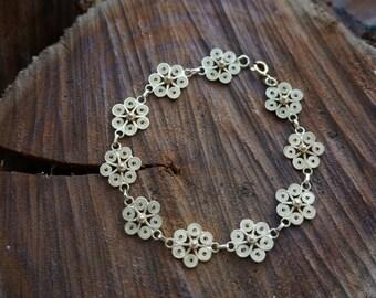 18k gold Filigree Flowers Bracelet