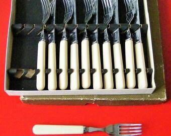 Set of fish knives and forks Vintage 1930's