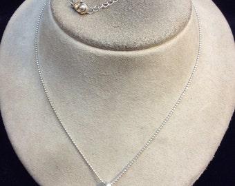 Vintage Rhinestone A Pendant Necklace