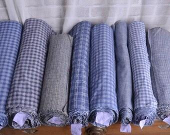 Old Coarse Hand Weaving Cotton Cloth, Manual Homespun Cloth, Plain coloured Grid