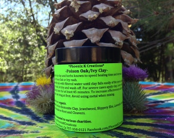 Poison Oak or Ivy Clay Treatment-Organic-4 oz.