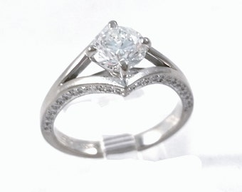 Hearts on Fire 1.03ct H,VS-2 Round Diamond Ring  FREE SHIPPING!!!!