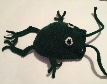 Hand Crocheted Frog Pouch