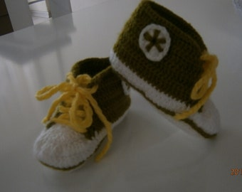 Baby Converse Pattern, Converse, Booties pattern, baby booties pattern, baby shoes pattern, baby booties, toddler shoes, crochet pa