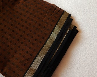1 yard of South Cotton Fabric, Handwoven Fabric, Indian Cotton Fabric, Indian Fabric, Ethnic Fabric, Brown Fabric