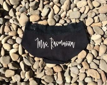 Custom Mrs. Panty - Brides New Last Name