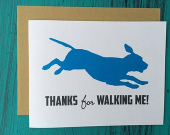 Thanks for Watching Me Greeting Card // Dog Sitter Thank You // Pet Sitter Thank You //