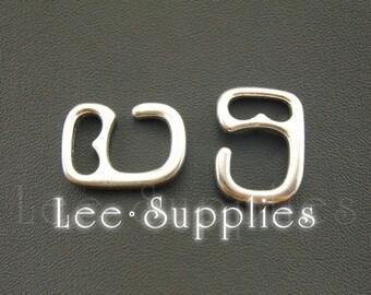 10pcs Antique Silver Alloy Leather Bracelet Clasp Charms Pendant A1103