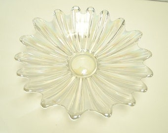 Vintage Iridescent Celestial Serving Bowl from Federal Glass