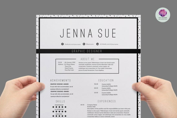 Modern Resume Template (ink Dot Background) , Cover Letter Template ,  References Template / Creative CV / 1 Page Resume  Resume Background Image