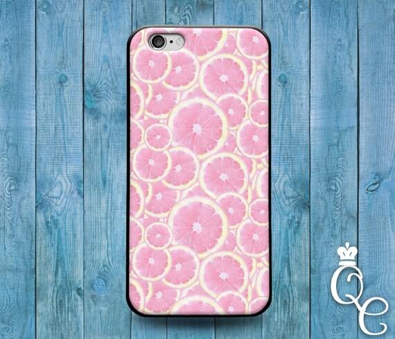 iPhone 4 4s 5 5s 5c SE 6 6s 7 plus + iPod Touch 4th 5th 6th Gen Cute Pink Orange Lemon Grapefruit Fruit Funny Slices Phone Cover Cool Case