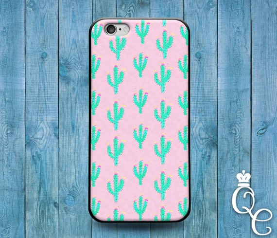 iPhone 4 4s 5 5s 5c SE 6 6s 7 plus iPod Touch 4th 5th 6th Generation Cool Pink Pattern Cactus Phone Case Cute Clever Fun Desert Funny Cover
