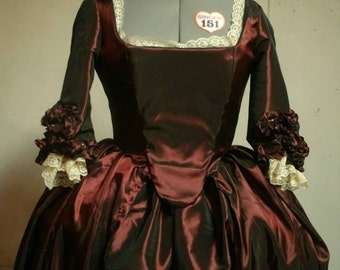 18th Century Colonial Baroque Marie Antoinette Gown Costume Size 4-18