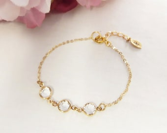 Swarvoski Crystal Bracelet, Birthstone Bracelet, Birthstone Jewelry, Wedding Jewelry, Bridal Bracelet, Wedding Bracelet, Bridal Jewelry