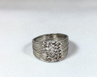 Puzzle Ring Sterling Silver 12 pieces