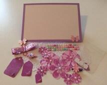 Pink and Purple Scrapbooking Embellishment Kit
