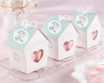 Love Nest Bird House Favor Boxes - Wedding Favors - Birthday Favor boxes - Baby Shower - Cupcake Boxes - Candy Boxes - Party Supplies 10 pcs