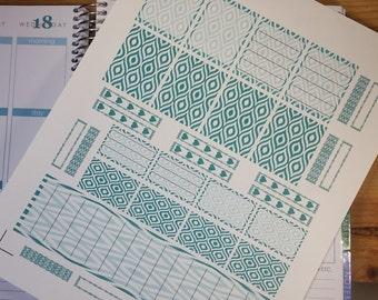 Eyelet Pattern Kit,Erin Condren Life Planner,Vertical Planner,Full Box,Half box,title bar,full sheet