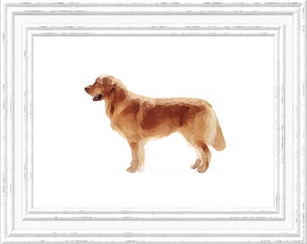 Golden Retriever Print, Golden Retriever Wall Art, Golden Retriever Printable, Digital Golden Retriever Printable, Printable Dog Art