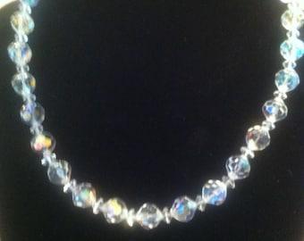Aurora Borealis Crystal Choker
