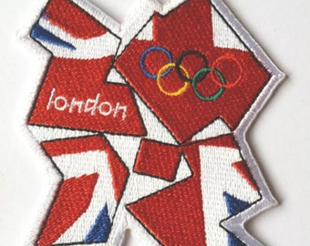 London 2012 Olympics Patch Set Iron Embroidered Badge Applique Rings Patches Fancy Dress Costume Team UK / USA United States