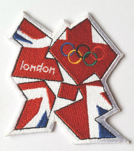 London 2012 Olympics Patch Team GB Embroidered Badge Costume Olympic Rings Crest