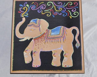 Hand Painted Thai Elephant Table
