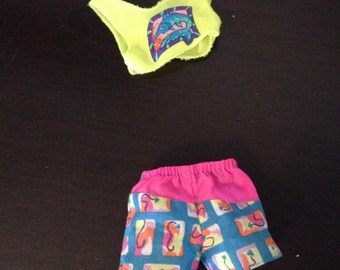 Ken Doll Swim Trunks and Shirt