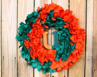 University of Miami Rag Wreath