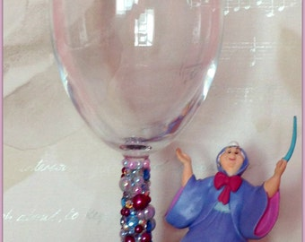 Disney Fairy Godmother Wine Glass