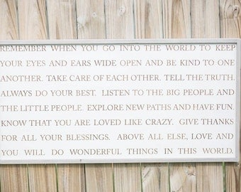 Remember When - Wood Sign - Home Decor