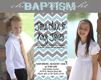 LDS Baptism Invititation