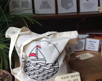 Hand Drawn Tote Bag