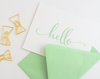 Note Cards // Thank You Notes // Thank You Note Set // Personalized Stationery // Calligraphy Stationery  // Hello Note Card