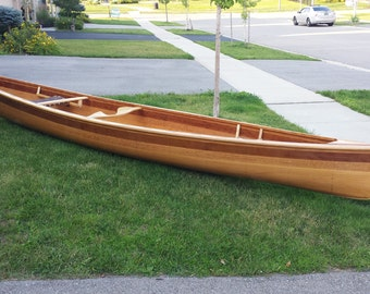 "16'6"" Cedar Strip Canoe"