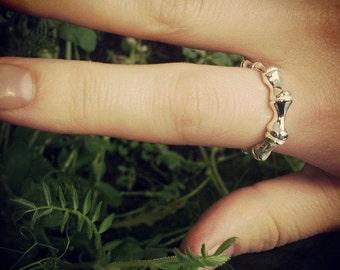 RING OF BONE, Bone Ring, Sterling Silver Ring
