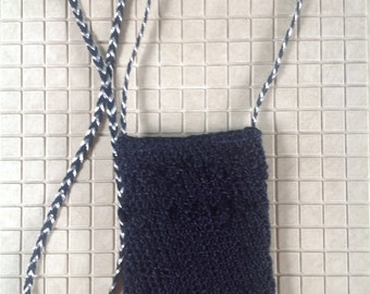 Crochet phone purse; shoulder bag