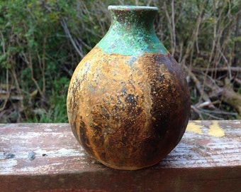"Patina and rust clay pot ""PIXIE'"