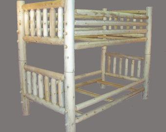 Solid Cedar Log Conversion Bunk Bed