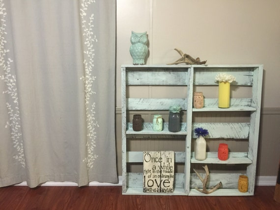 Items Similar To Free Shipping Pallet Shelf Pallet Garden Home Decor Display Shelf Pallet