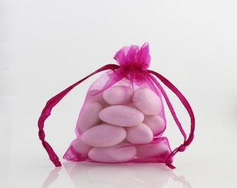 4 x 6  Fuchsia Organza Bag // 4 x 6 in // Organza Bags // BBBsupplies {CR-O-F002}
