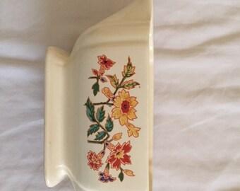 Vintage Homer Laughlin Floral Gravy Boat