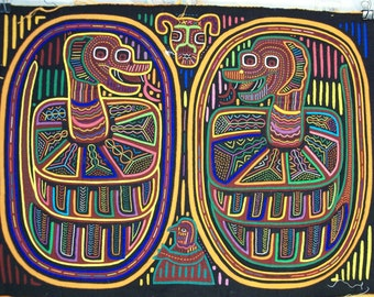 Pair of Snakes coiled Molas